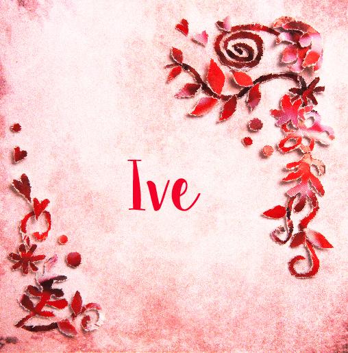 voorkant Geboortekaartje rode bloemen Ive