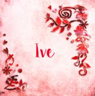 Geboortekaartje rode bloemen Ive
