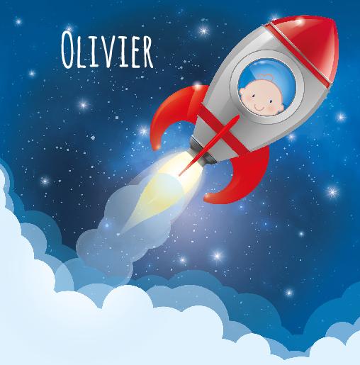 voorkant Baby raketje Olivier
