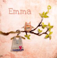 Geboortekaartje uiltje Emma