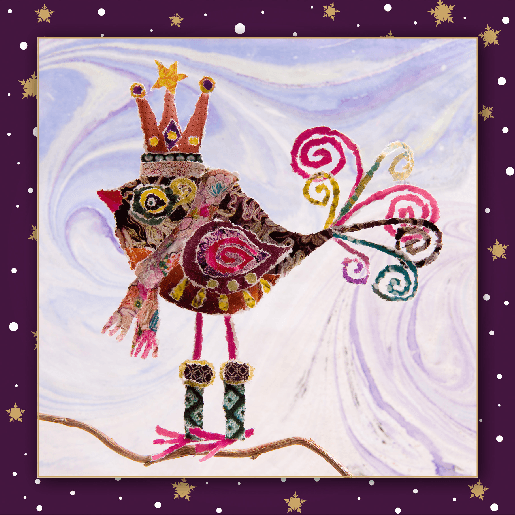 voorkant Kerstkaart vogel
