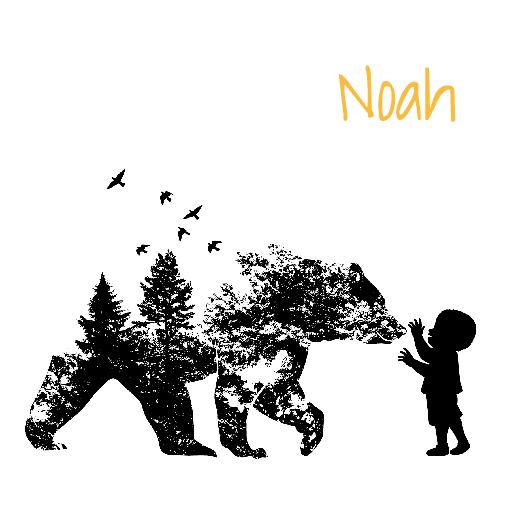 voorkant Silhouetkaartje beer Noah