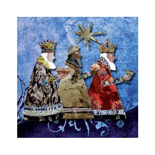 voorkant Kerstkaart Drie Koningen