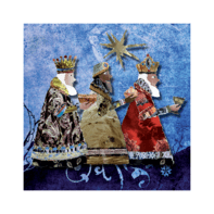 Kerstkaart Drie Koningen