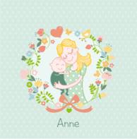 Moeder en kindje bloemen Anne