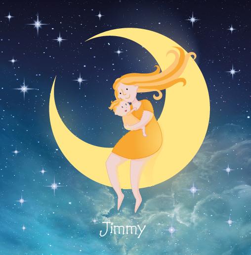 voorkant Moeder kind maan Jimmy