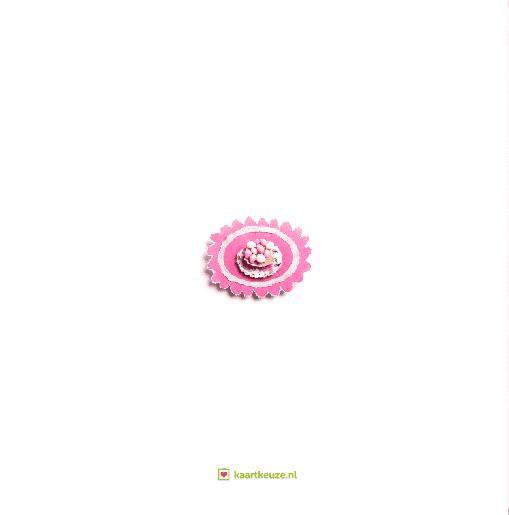 achterkant Beschuit met roze muisjes Julia