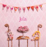 Beschuit met roze muisjes Julia