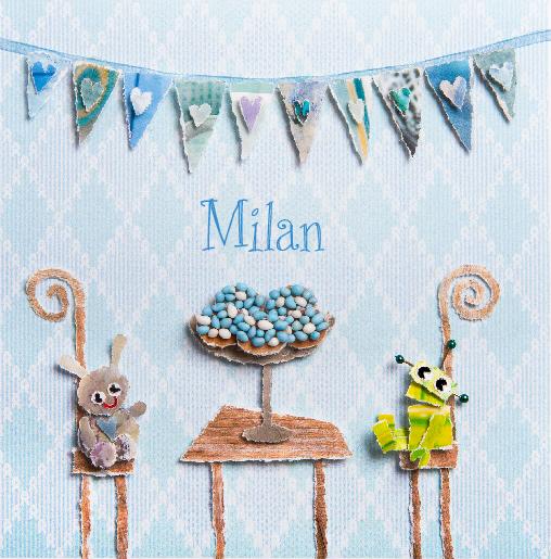 voorkant Beschuit met muisjes Milan