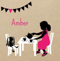 Silhouetkaartje tea time Amber