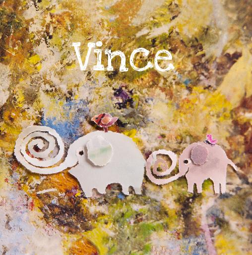 voorkant Geboortekaartje olifantjes Vince