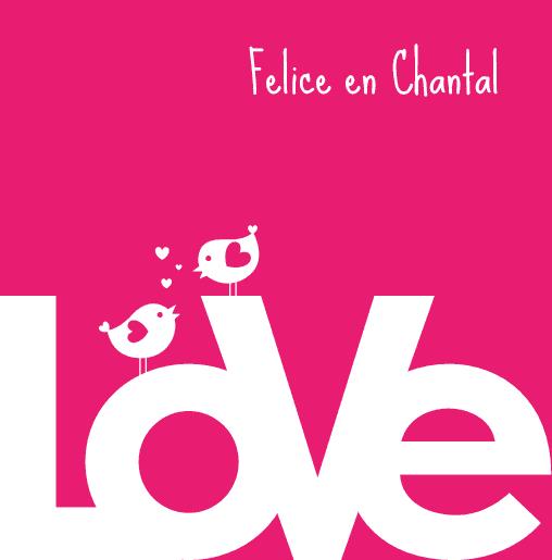 voorkant Homo trouwkaart love birds roze