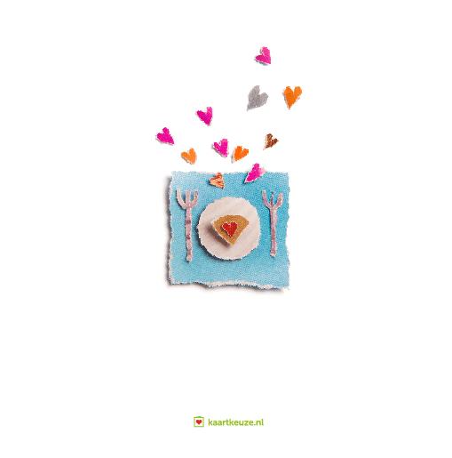 achterkant Homo trouwkaart taart