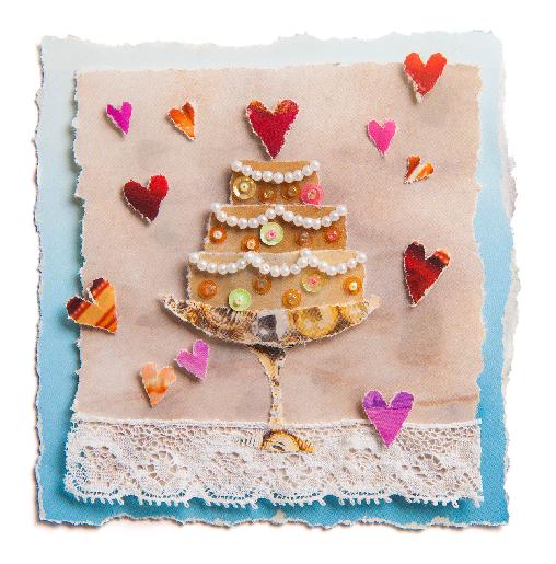 voorkant Homo trouwkaart taart
