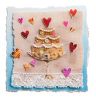 Homo trouwkaart taart