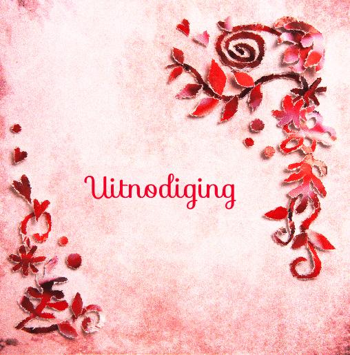 voorkant Uitnodiging rode bloemen