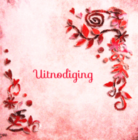 Uitnodiging rode bloemen