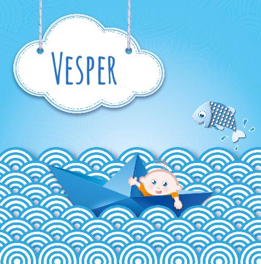 voorkant Bootje blauw Vesper