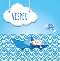 Bootje blauw Vesper