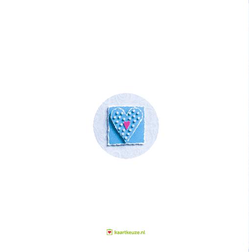 achterkant Blauw hart parels