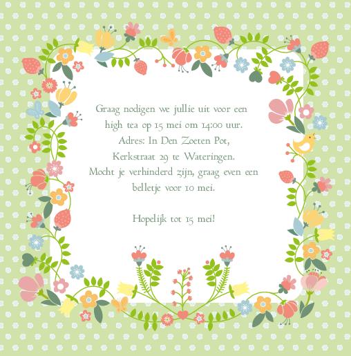 uitnodiging bloemen 60 jaar dubbel | kaartkeuze