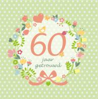 Bloemenkrans 60 jaar getrouwd
