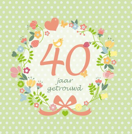 Uitzonderlijk Uitnodiging bloemen 40 jaar dubbel | Kaartkeuze &SO53