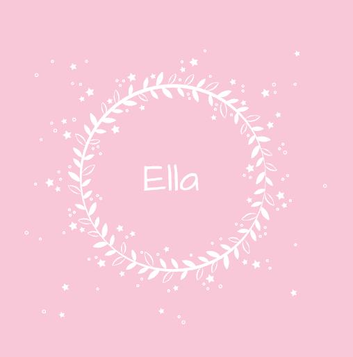 voorkant Geboortekaartje meisje sterretjes roze
