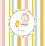 Geboortekaartje baby eendje