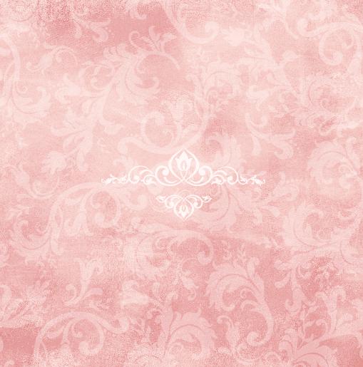 achterkant Trouwkaart roze krullen