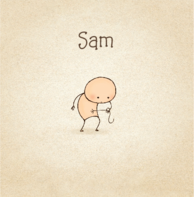 Babykaartje grappig baby navelstreng
