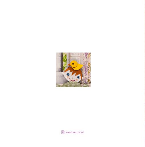achterkant Geboortekaartje badje