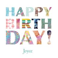Verjaardagskaart letters