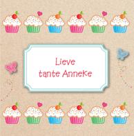 Verjaardagskaart kraft cupcakes