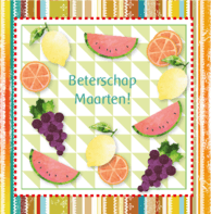 Beterschap kaart fruit