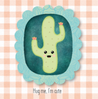 Wenskaart cactus