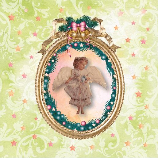 voorkant Kerstkaart engeltje
