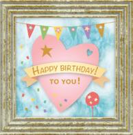 Verjaardagskaart hart pastel