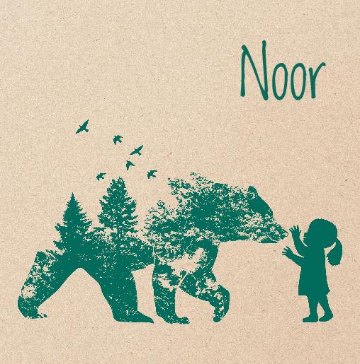 voorkant silhouet beer hert groen kraft