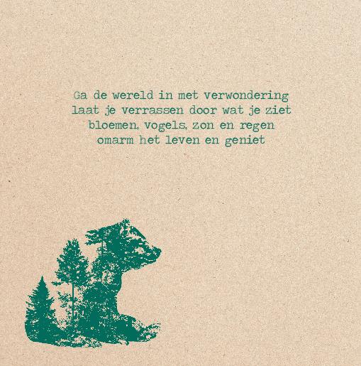 binnenkant links silhouet beer hert groen kraft