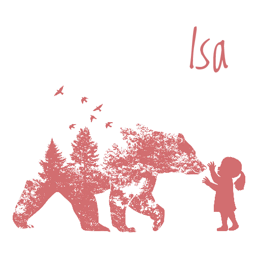 voorkant meisje silhouet beer oud roze
