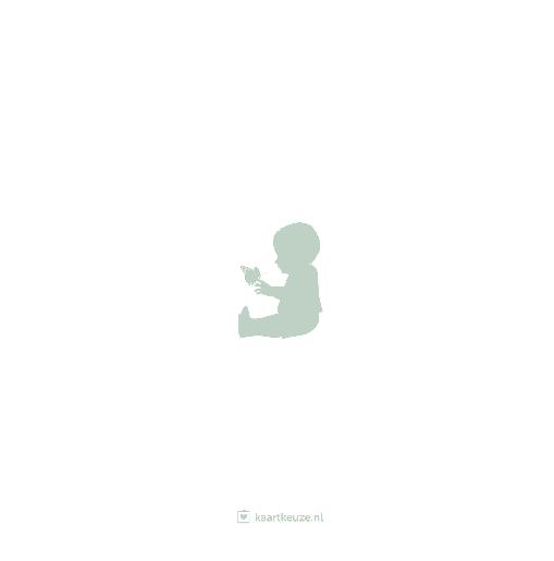 achterkant beer silhouet mint wit