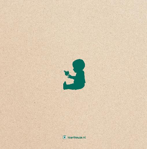 achterkant Geboortekaartje beer hert kraft groen