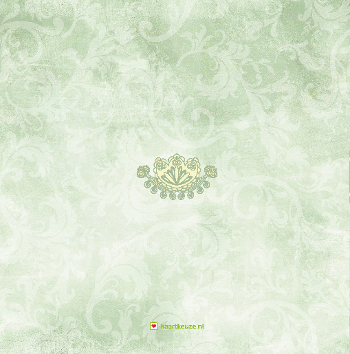 achterkant Trouwkaart groen klassiek