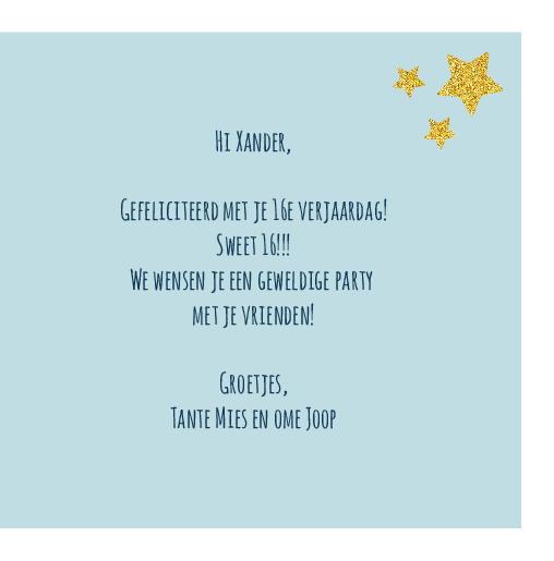 binnenkant rechts Kaart blauw party time