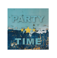 Kaart blauw party time