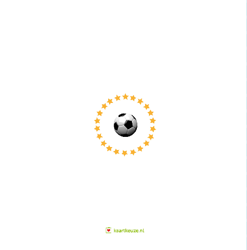 achterkant Verjaardagskaart voetbal friet