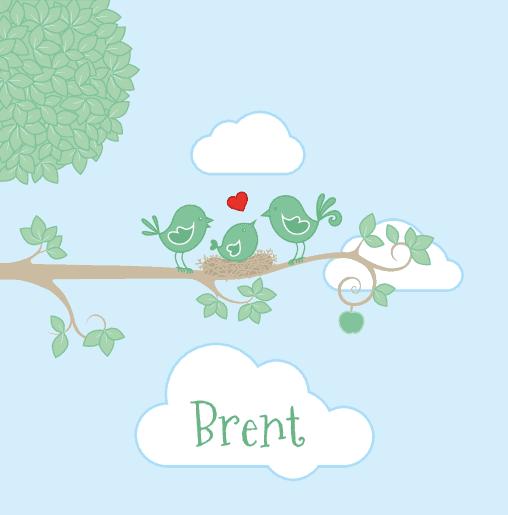 voorkant Vogeltjes pastel Brent