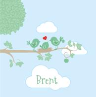 Vogeltjes pastel Brent