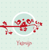Rode vogeltjes Yasmijn